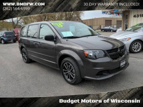 2015 Dodge Grand Caravan for sale at Budget Motors of Wisconsin in Racine WI