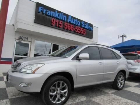 2009 Lexus RX 350 for sale at Franklin Auto Sales in El Paso TX