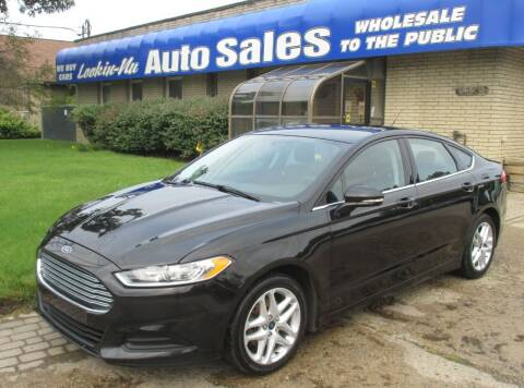 2014 Ford Fusion for sale at Lookin-Nu Auto Sales in Waterford MI