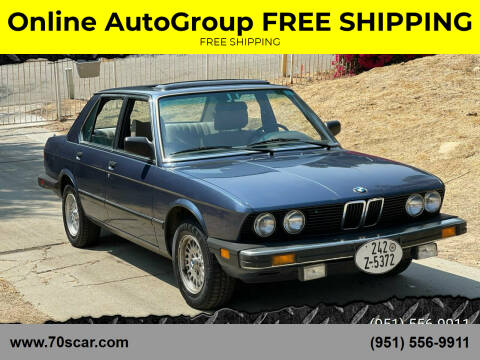 1983 BMW 5 Series for sale at Online AutoGroup FREE SHIPPING in Riverside CA