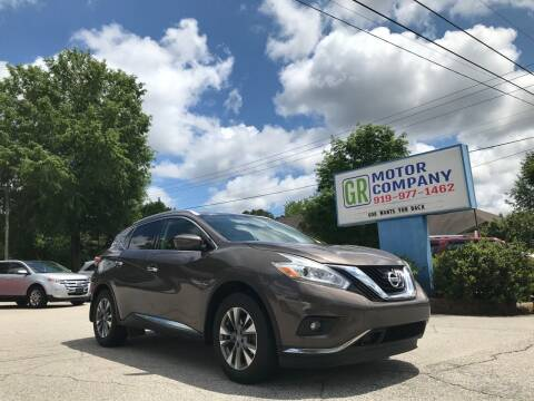 2016 Nissan Murano for sale at GR Motor Company in Garner NC