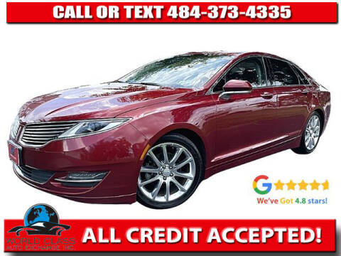 2015 Lincoln MKZ for sale at World Class Auto Exchange in Lansdowne PA
