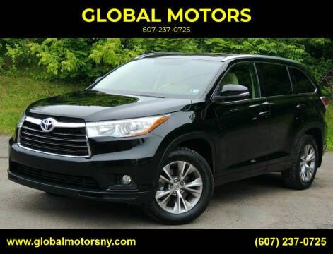 2015 Toyota Highlander for sale at GLOBAL MOTORS in Binghamton NY