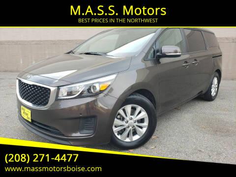 2017 Kia Sedona for sale at M.A.S.S. Motors in Boise ID