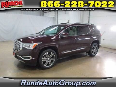 2018 GMC Acadia for sale at Runde PreDriven in Hazel Green WI