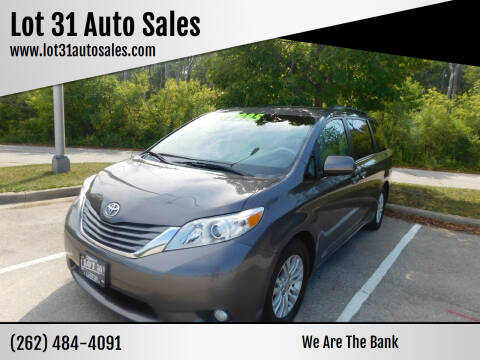 2013 Toyota Sienna for sale at Lot 31 Auto Sales in Kenosha WI