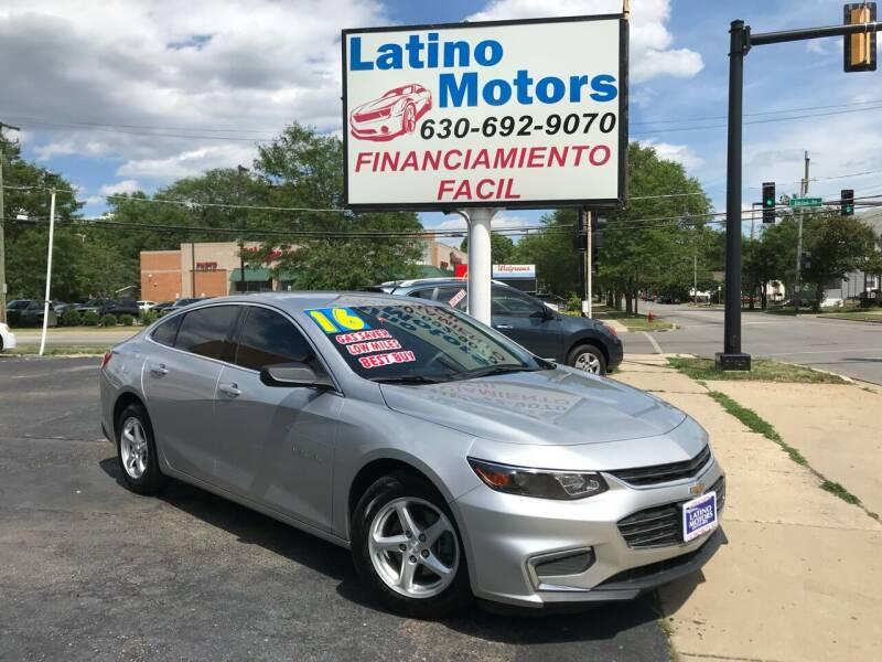 2016 Chevrolet Malibu for sale at Latino Motors in Aurora IL