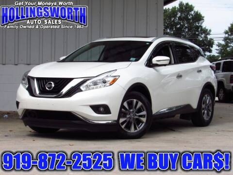 2016 Nissan Murano for sale at Hollingsworth Auto Sales in Raleigh NC