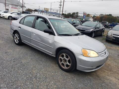 2001 Honda Civic for sale at CRS 1 LLC in Lakewood NJ