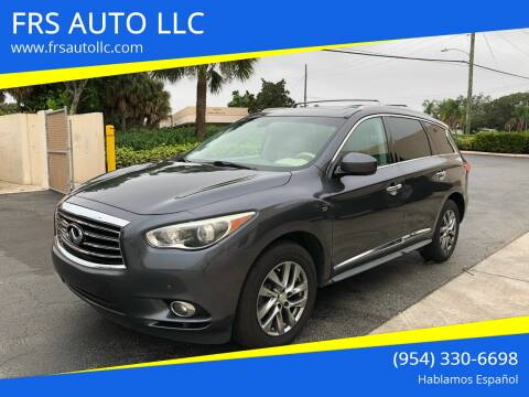 2014 Infiniti QX60 for sale at FRS AUTO LLC in West Palm Beach FL
