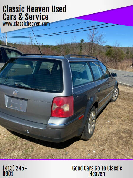 2004 Volkswagen Passat for sale at Classic Heaven Used Cars & Service in Brimfield MA