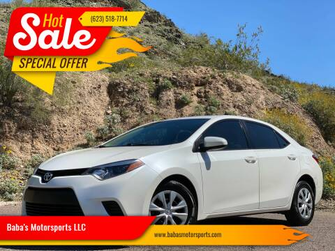 2014 Toyota Corolla for sale at Baba's Motorsports, LLC in Phoenix AZ