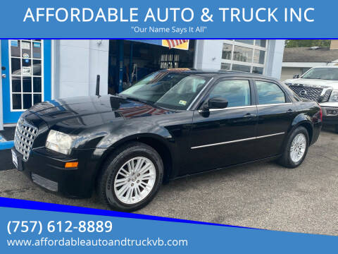 2009 Chrysler 300 for sale at AFFORDABLE AUTO & TRUCK INC in Virginia Beach VA