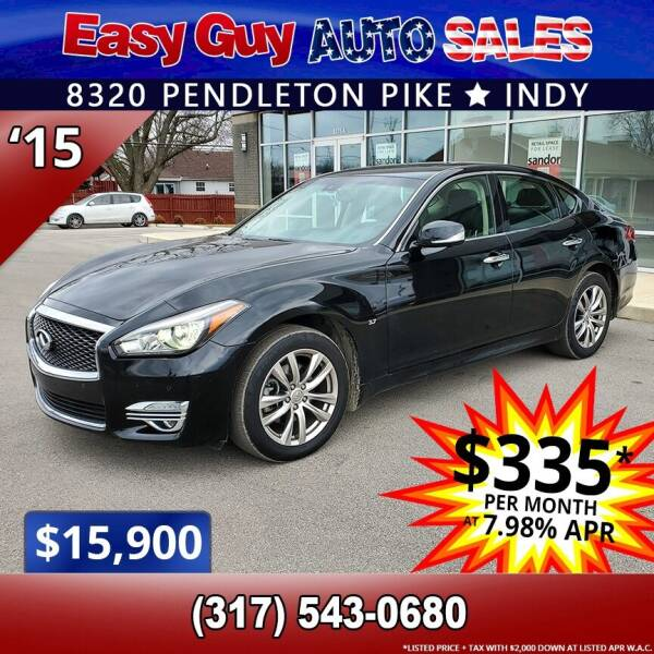 2015 Infiniti Q70 for sale at Easy Guy Auto Sales in Indianapolis IN
