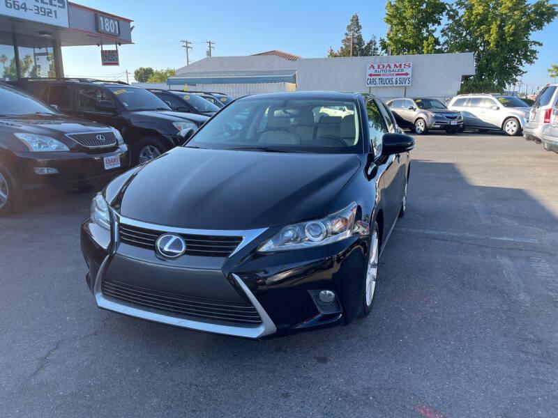 2015 Lexus CT 200h for sale at Adams Auto Sales in Sacramento CA