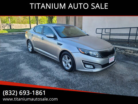2014 Kia Optima for sale at TITANIUM AUTO SALE in Houston TX