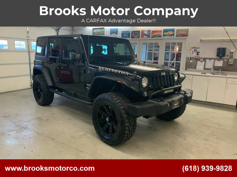 2016 Jeep Wrangler Unlimited for sale at Brooks Motor Company in Columbia IL