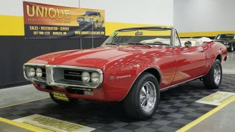 1967 Pontiac Firebird for sale at UNIQUE SPECIALTY & CLASSICS in Mankato MN