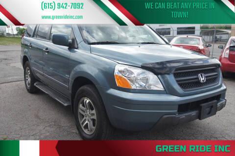 2005 Honda Pilot for sale at Green Ride Inc in Nashville TN
