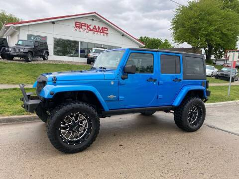 2014 Jeep Wrangler Unlimited for sale at Efkamp Auto Sales LLC in Des Moines IA