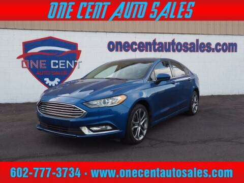 2017 Ford Fusion for sale at One Cent Auto Sales in Glendale AZ