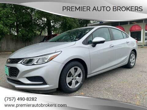 2017 Chevrolet Cruze for sale at Premier Auto Brokers in Virginia Beach VA