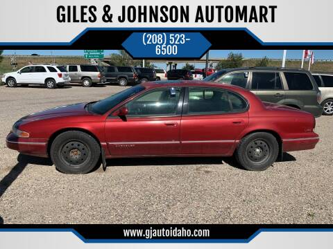1994 Chrysler LHS for sale at GILES & JOHNSON AUTOMART in Idaho Falls ID