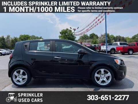 2012 Chevrolet Sonic for sale at Sprinkler Used Cars in Longmont CO