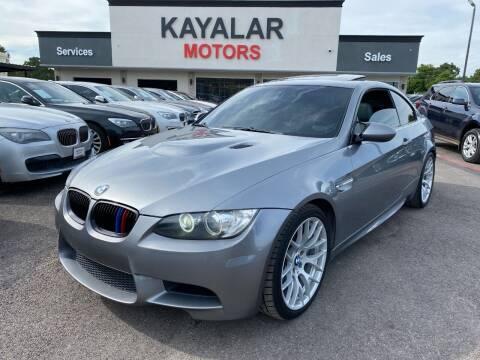 2009 BMW M3 for sale at KAYALAR MOTORS in Houston TX