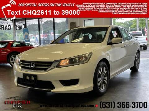 2013 Honda Accord for sale at CERTIFIED HEADQUARTERS in Saint James NY