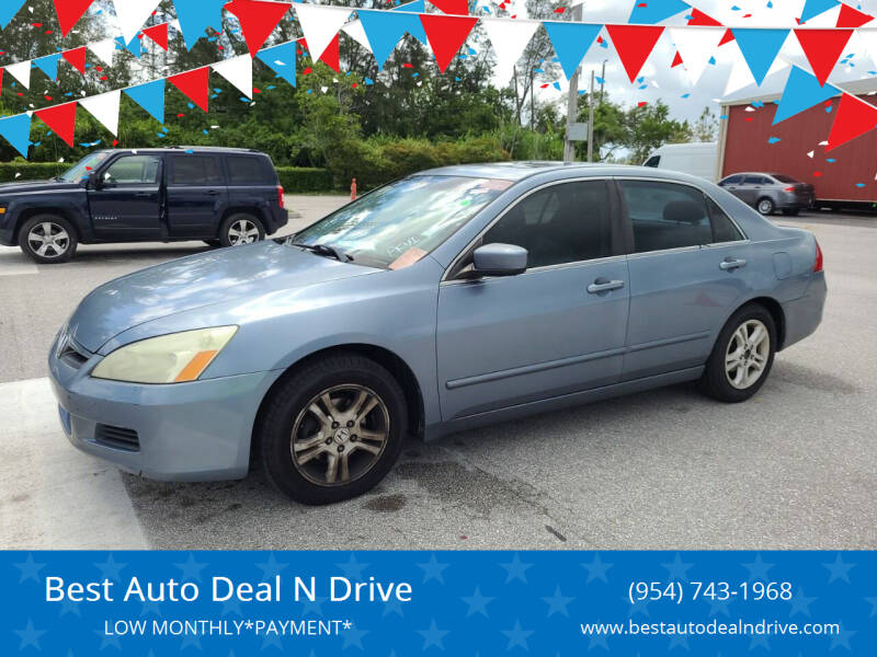 2007 Honda Accord for sale at Best Auto Deal N Drive in Hollywood FL