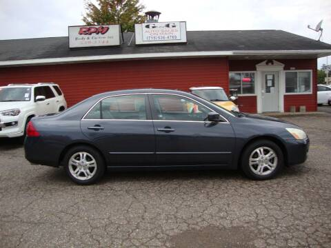 2006 Honda Accord for sale at G and G AUTO SALES in Merrill WI