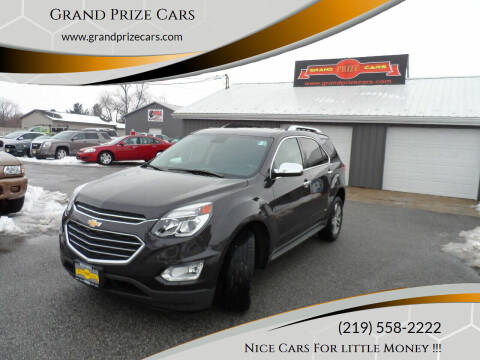 2016 Chevrolet Equinox for sale at Grand Prize Cars in Cedar Lake IN