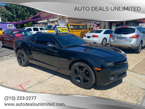 2010 Chevrolet Camaro for sale at AUTO DEALS UNLIMITED in Philadelphia PA