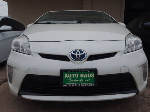 2012 Toyota Prius for sale at Auto Haus Imports in Grand Prairie TX