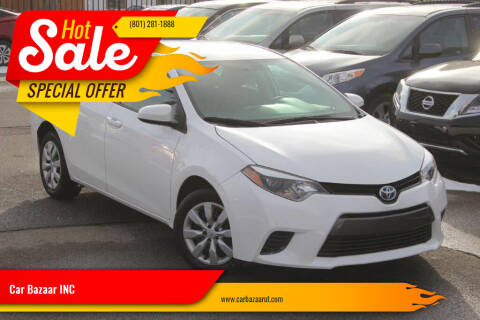 2016 Toyota Corolla for sale at Car Bazaar INC in Salt Lake City UT