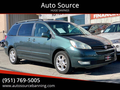 2004 Toyota Sienna for sale at Auto Source in Banning CA