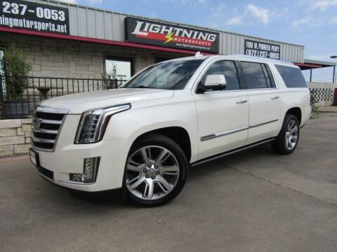 2015 Cadillac Escalade ESV for sale at Lightning Motorsports in Grand Prairie TX