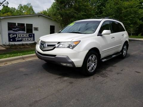 2007 Acura MDX for sale at TR MOTORS in Gastonia NC