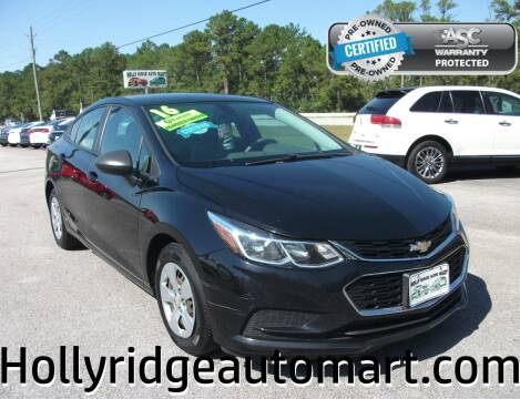 2016 Chevrolet Cruze for sale at Holly Ridge Auto Mart in Holly Ridge NC