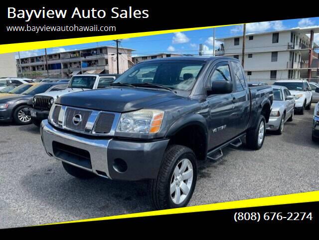2007 Nissan Titan for sale at Bayview Auto Sales in Waipahu HI