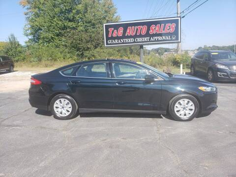 2014 Ford Fusion for sale at T & G Auto Sales in Florence AL