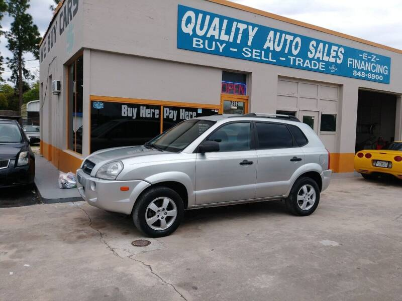 2008 Hyundai Tucson for sale at QUALITY AUTO SALES OF FLORIDA in New Port Richey FL