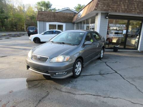2007 Toyota Corolla for sale at Millbrook Auto Sales in Duxbury MA