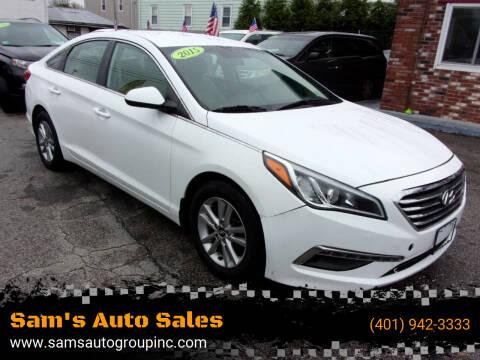 2015 Hyundai Sonata for sale at Sam's Auto Sales in Cranston RI