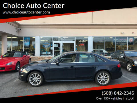 2016 Audi A4 for sale at Choice Auto Center in Shrewsbury MA