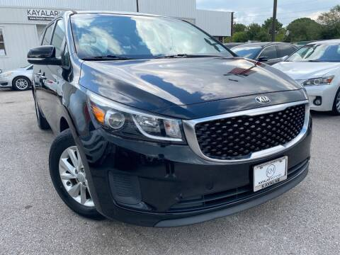 2015 Kia Sedona for sale at KAYALAR MOTORS in Houston TX