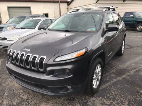 2014 Jeep Cherokee for sale at Rinaldi Auto Sales Inc in Taylor PA