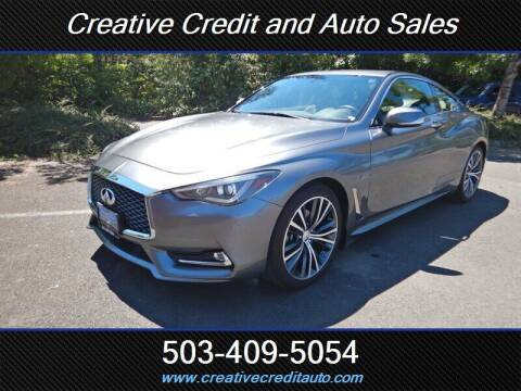 2017 Infiniti Q60 for sale at Creative Credit & Auto Sales in Salem OR