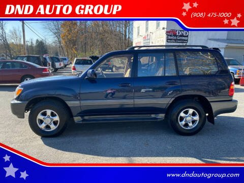 2002 Toyota Land Cruiser for sale at DND AUTO GROUP in Belvidere NJ